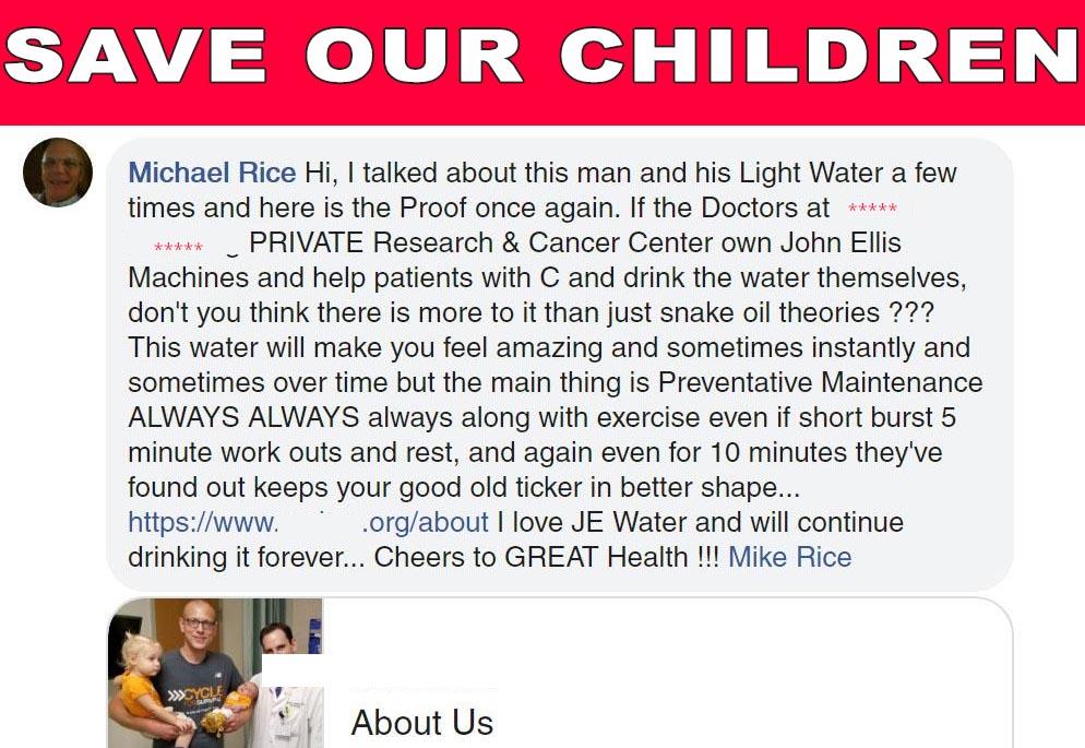 Cancer Center John Ellis Water